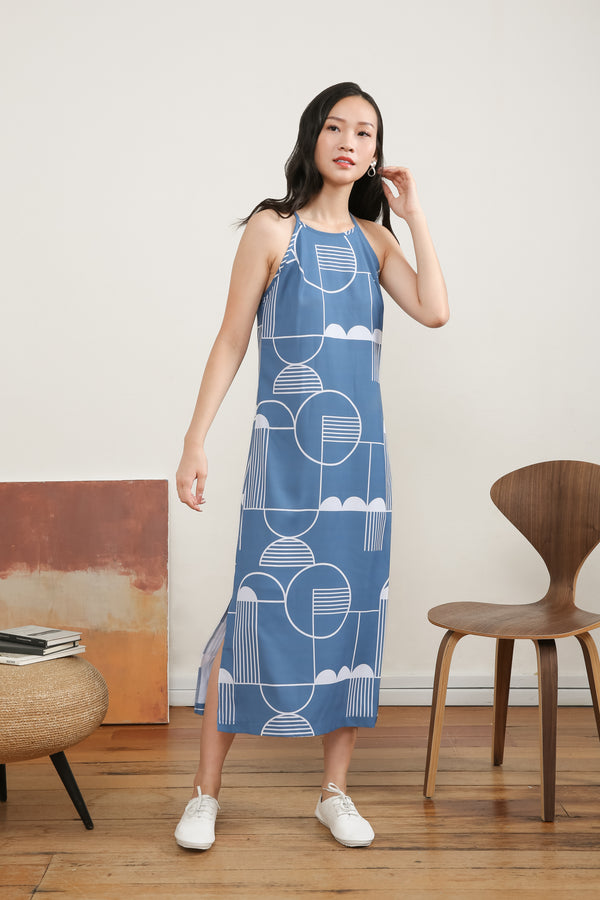 Aileen Printed Slip Dress