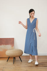 Azula Sleeveless Wrap Dress