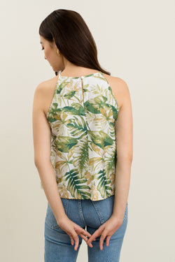 Remy Tropical Halter Top