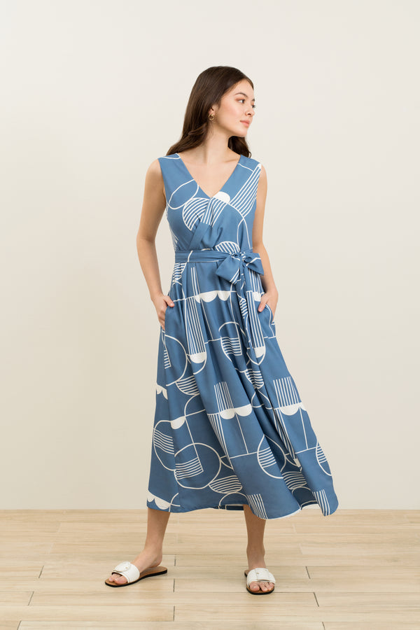 Aileen Sleeveless Printed Maxi