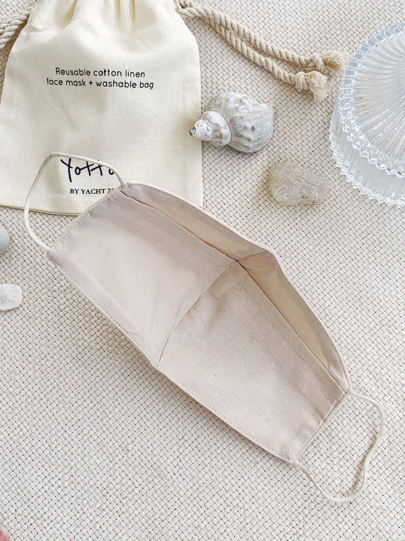 [PRE-ORDER] Yotto Reusable Face Mask with Washable Bag in Beige