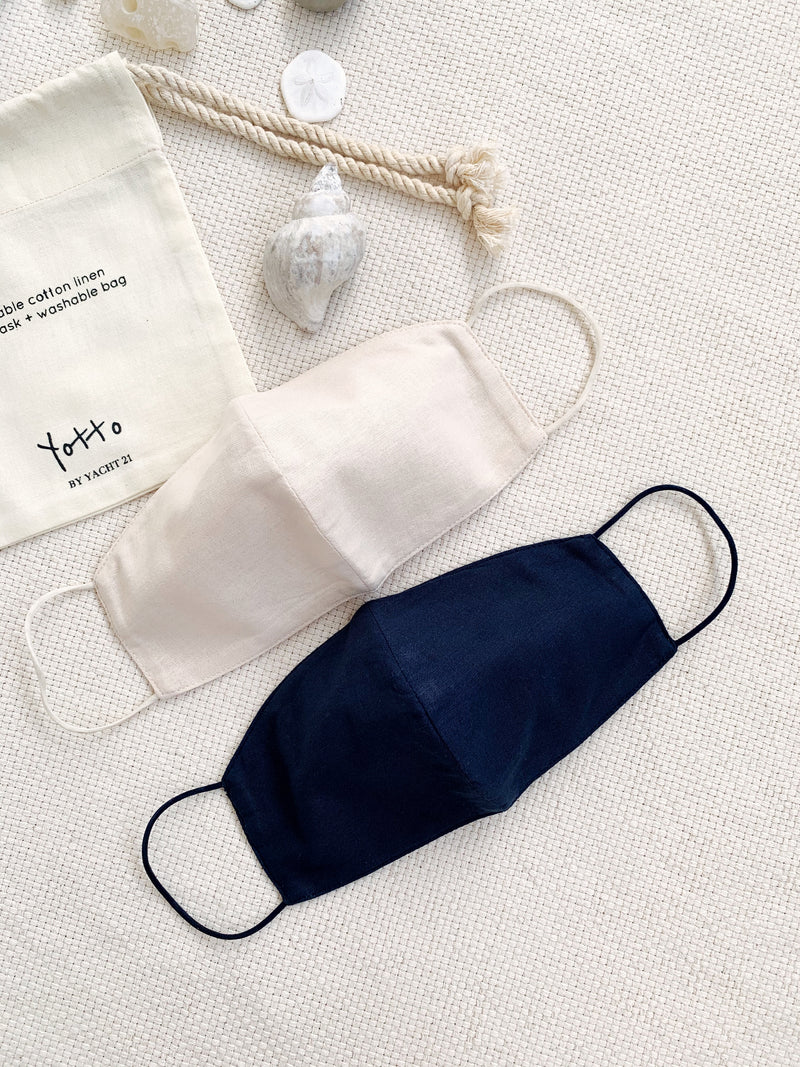 Yotto Reusable Face Mask with Washable Bag in Navy
