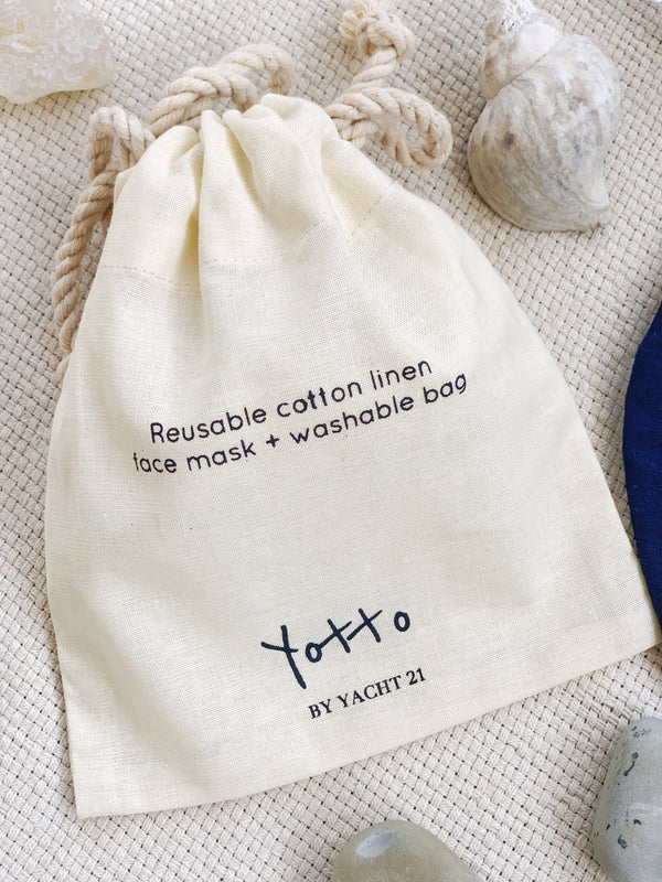 [PRE-ORDER] Yotto Reusable Face Mask with Washable Bag in Navy