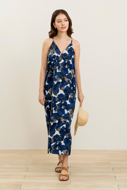 Iggy Printed Maxi Slip Dress