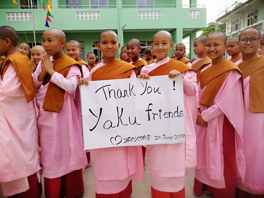 Yaku donates funds to Myanmar nunnery school