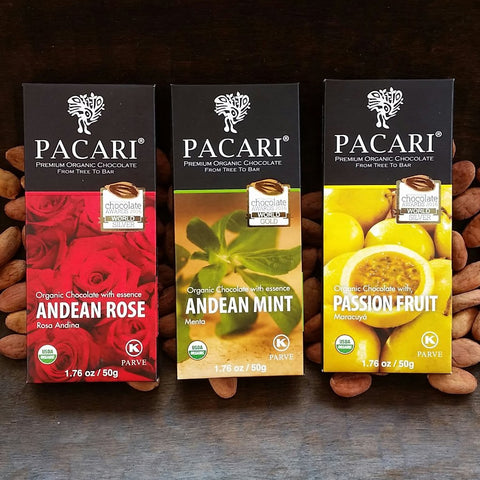 Classic: 3 Pacari Chocolate Bars