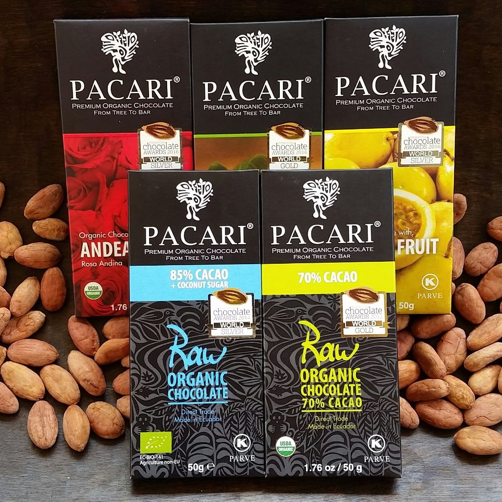Family Pack of 5 Pacari Chocolate Bars
