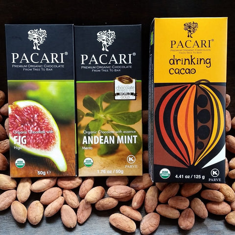 The Mixed Pack: 2 Pacari Chocolate Bars & 1 Drinking Cacao