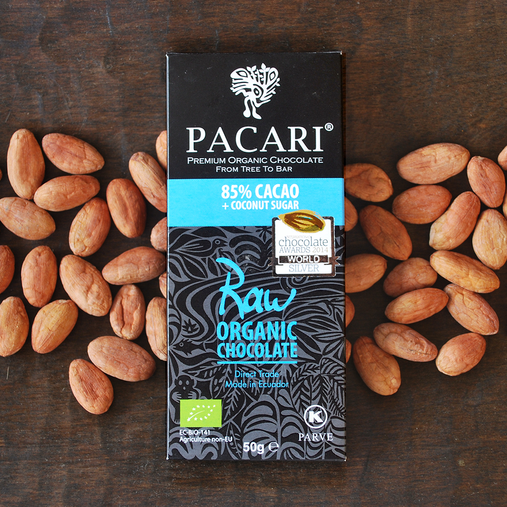 Pacari Raw 85% Chocolate with Coconut Sugar