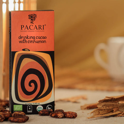 Pacari Drinking Cacao with Cinnamon
