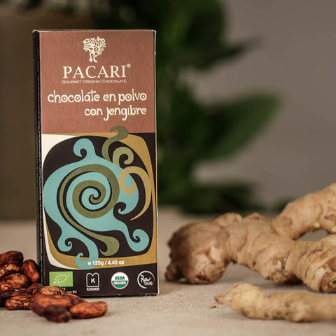 Pacari Drinking Cacao with Ginger