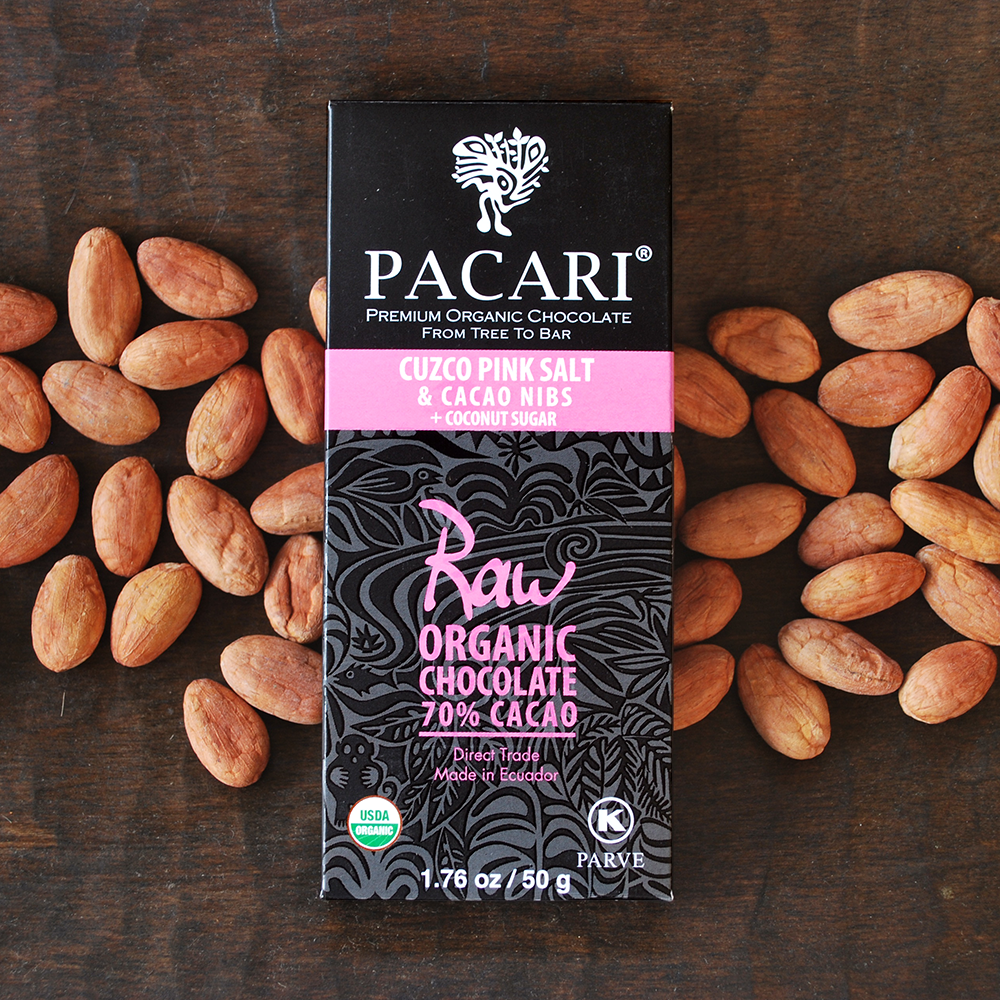 Pacari Cuzco Pink Salt & Nibs 70% Chocolate with Coconut Sugar