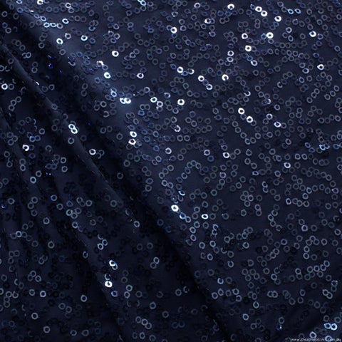 6093 Navy  Blue   SEQUINS Sample