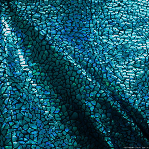 9315 Teal Blue large Shatter Glass