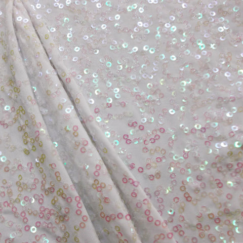 7749 Opal / white SEQUINS Sample