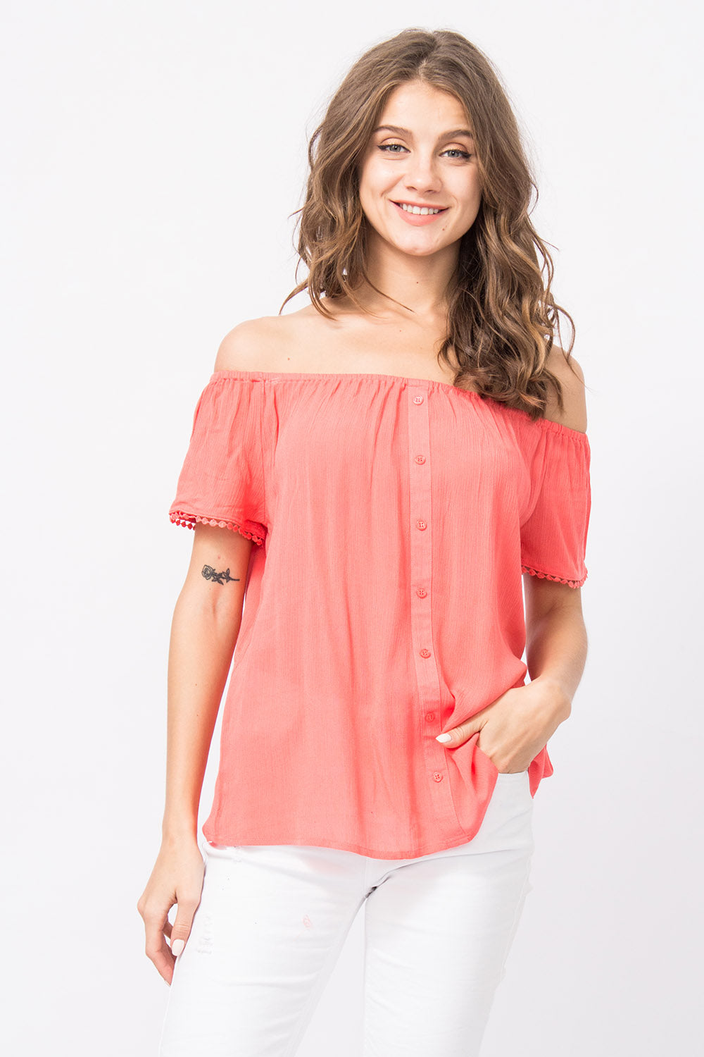 Off-Shoulder Bluse Paola