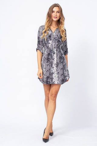 Off-Shoulder Kleid Leafy