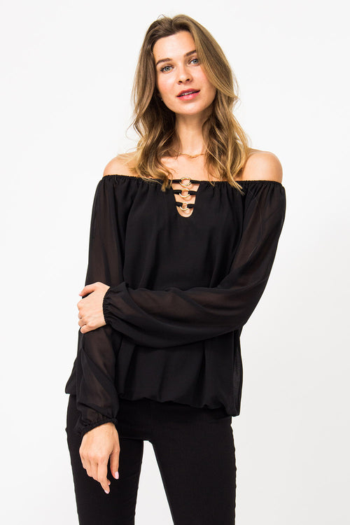 Off-Shoulder Bluse Cecilia