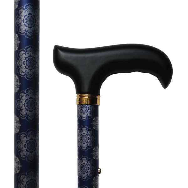 Midnight Blue Luxe Cane