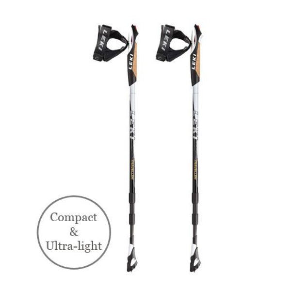 Traveller Carbon Black Nordic Walking Poles by LEKI®