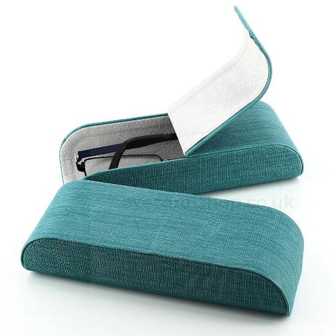 Women's Linen Look Glasses Case- Alexa
