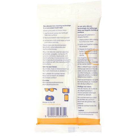 Calowipes - Disposable Pre-Impreganted Lens Wipes by Calotherm - Eyecare-Shop - 2