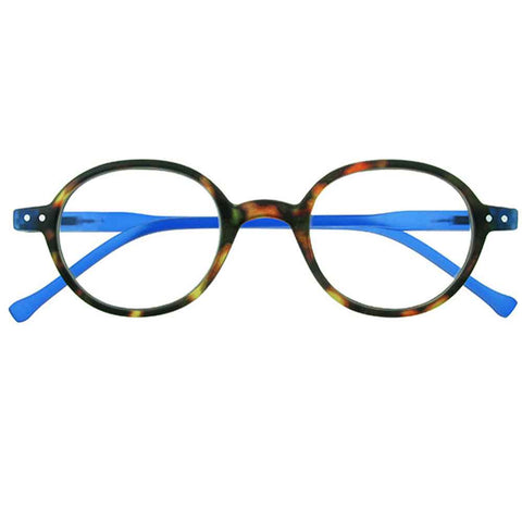 Reading Glasses - Unisex - Campbell - Tortoiseshell / Blue