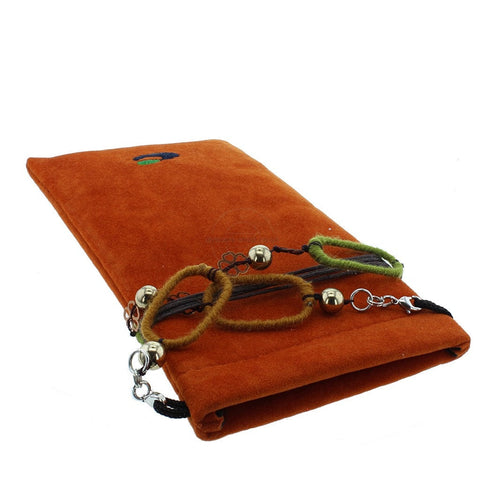 Red Soft Glasses Case with Decorative Neck / Spectacle Chain - Glamour Plaza