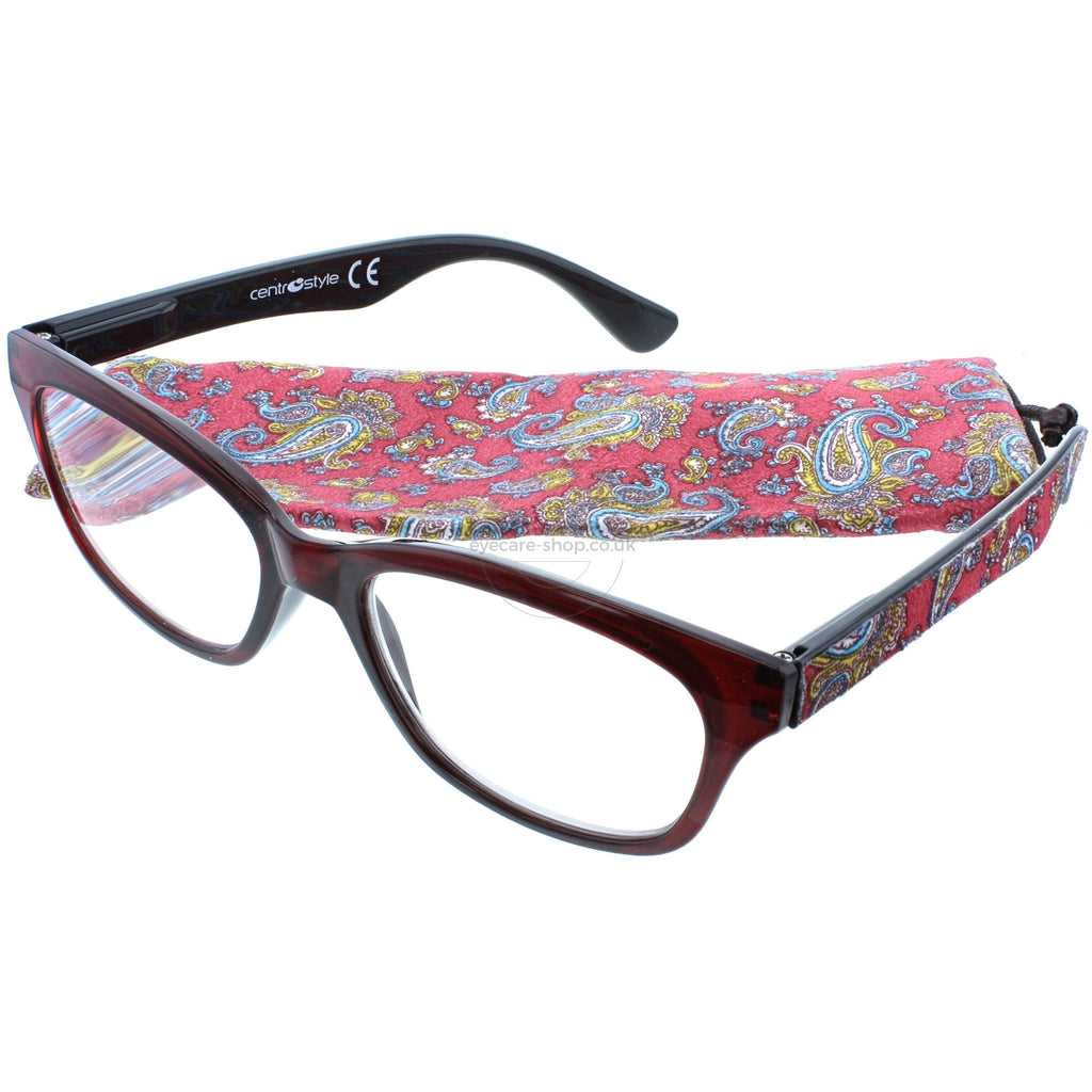 0090c94483c +2.00 Reading Glasses - Womens - Red - Abbie - Eyecare-Shop