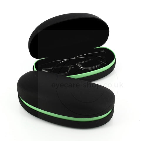 Large Sunglass Case Black & Green Stripe