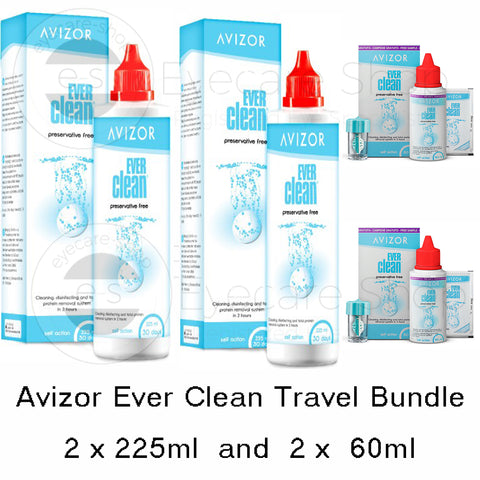 Ever Clean Contact Lens Daily Disinfection - Travel Bundle