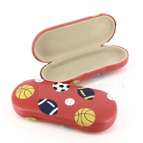 Glasses Case with football, Soccer  Cricket & Baseball pattern cover