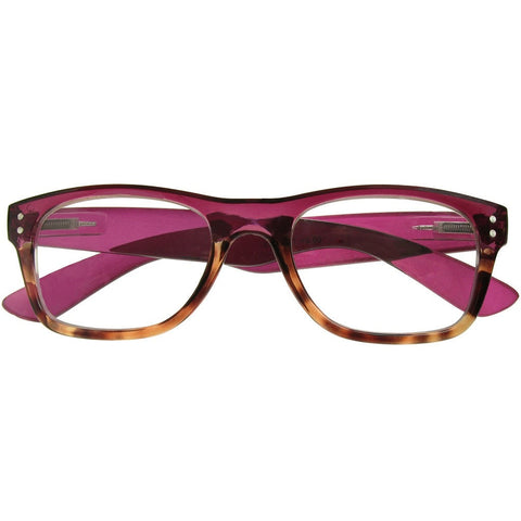 Reading Glasses - Womens - Purple&Tortoise Shell - Chester - Eyecare-Shop - 1