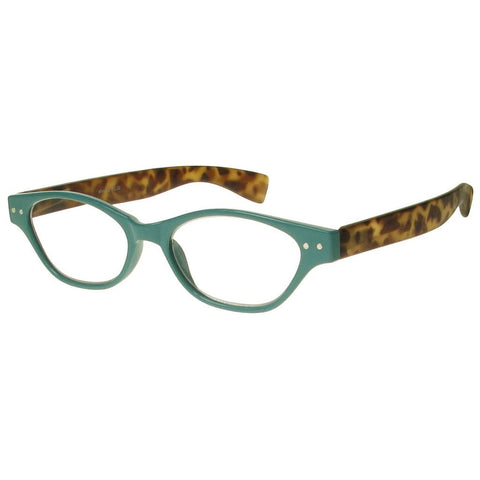 +1.50 Reading Glasses - Womens - Torquoise&Tortoise Shell - Layla - Eyecare-Shop - 2