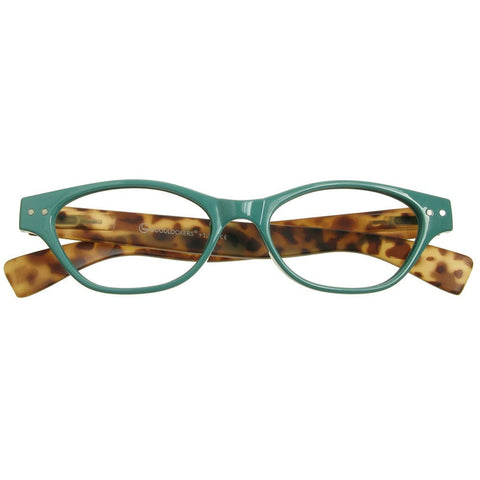 4ff2f7e6d01 +1.50 Reading Glasses - Womens - Torquoise Tortoise Shell - Layla - Eyecare- Shop ...