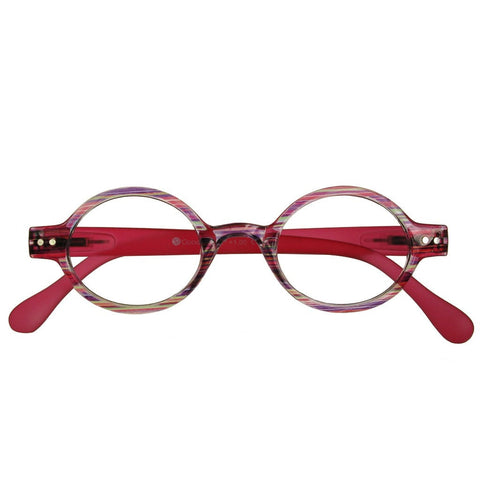+1.00 Reading Glasses - Womens - Pink Stripe - Louvre - Eyecare-Shop - 1