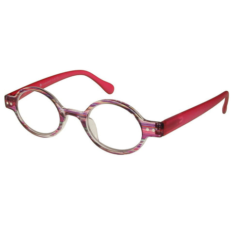 +1.00 Reading Glasses - Womens - Pink Stripe - Louvre - Eyecare-Shop - 2