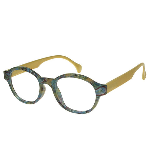 +2.00 Reading Glasses - Unisex - Green&Gold - Francesca - Eyecare-Shop - 2