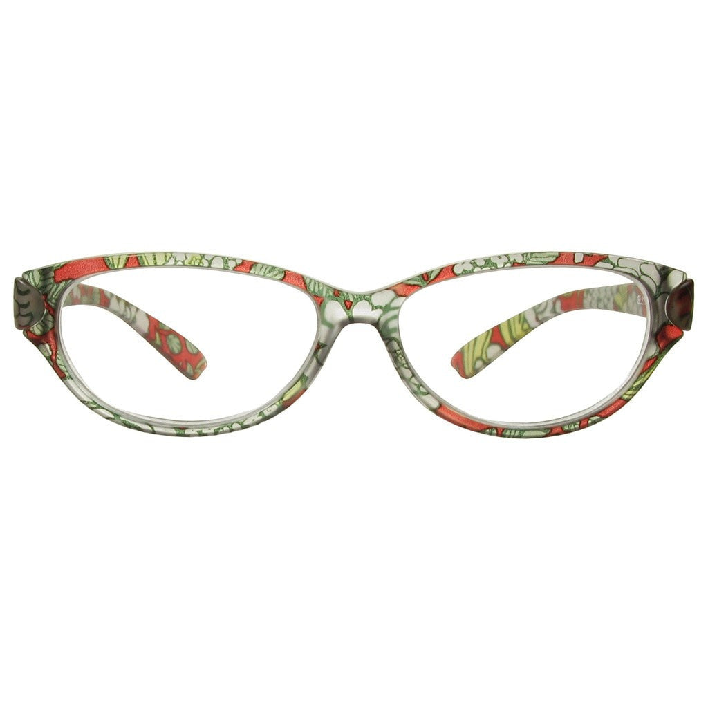 c486cc18afc +2.50 Reading Glasses - Womens - Red Floral - Lulu - Eyecare-Shop -