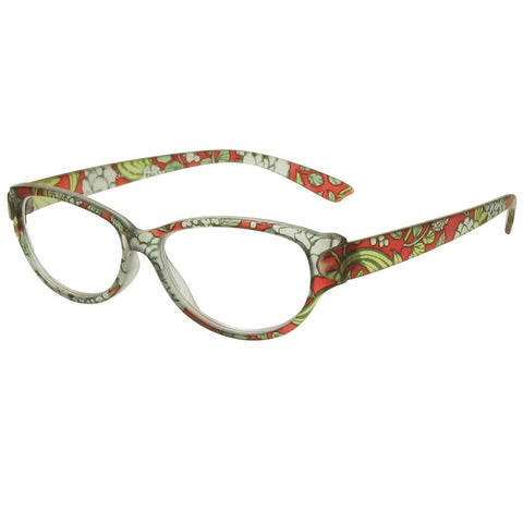 +2.50 Reading Glasses - Womens - Red Floral - Lulu - Eyecare-Shop - 2