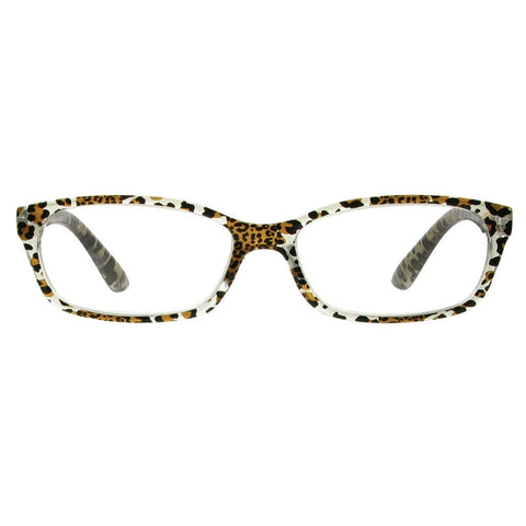 +2.50 Reading Glasses - Womens - Silver Leopard - Brazil - Eyecare-Shop