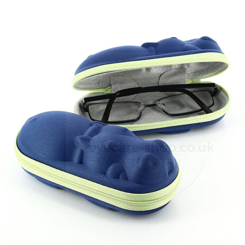 Blue Animal Shaped Childrens Glasses Case