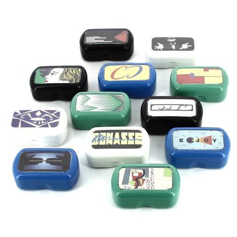 Retro Contact Lens Case with Mirror