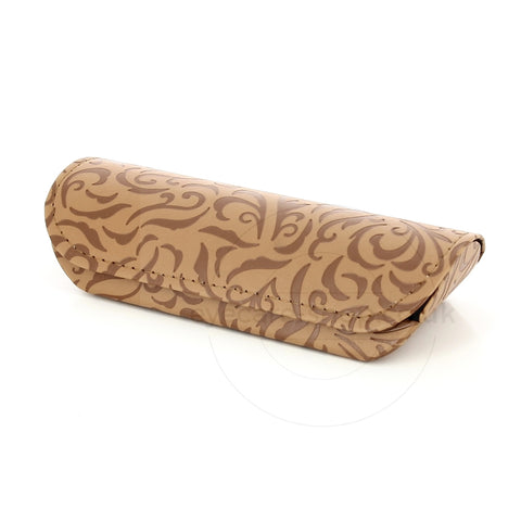 Beige Swirly Pattern Womens Glasses Case