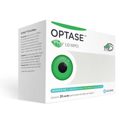 Optase Tea Tree Oil Lid Wipes for blepharitis