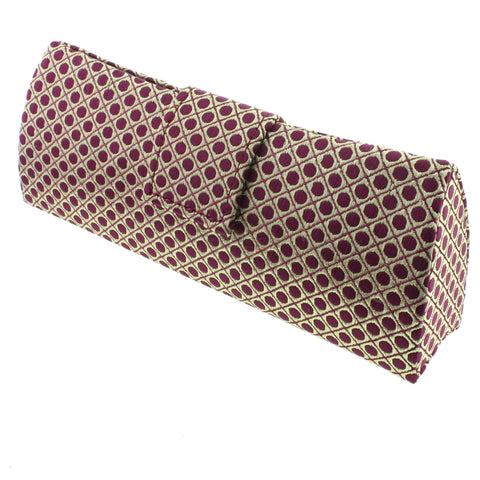 Gold Red Polka Dot Satin Glasses Case - Paris