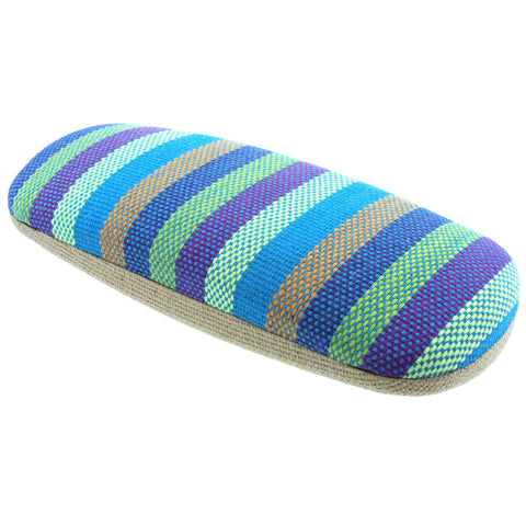 Blue Stripe Hard Glasses Case - Siesta