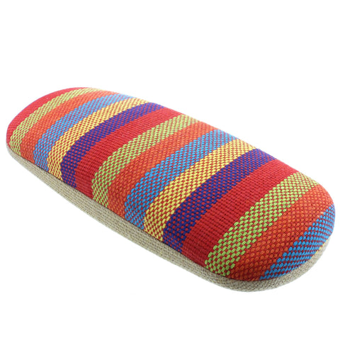 Red Stripe Hard Glasses Case - Siesta