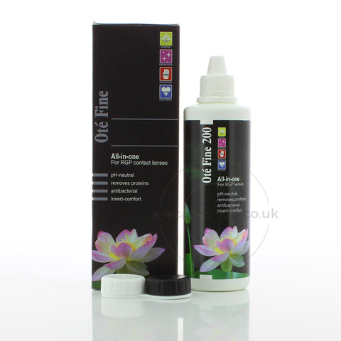 Ote Fine Gas Permeable Contact Lens Solution