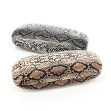 Gold Snakeskin Print Python Glasses Case